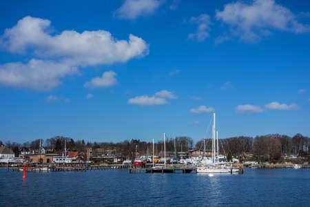 rostock: Port in Rostock  Germany   Stock Photo