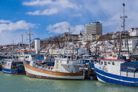 Fishery port in Sassnitz  Germany   photo