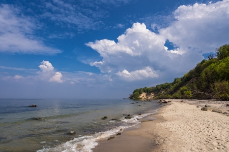 On shore of the Baltic Sea