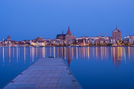 View to Rostock  Germany