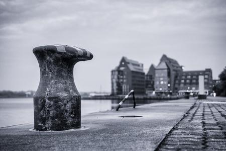 rostock: City port of Rostock  Germany   Stock Photo