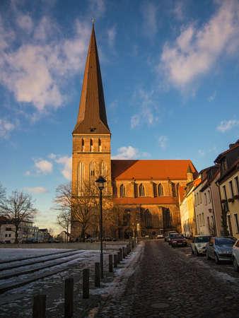 rostock: A church in Rostock, Germany