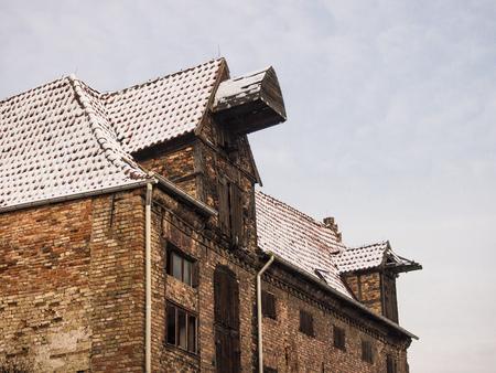deteriorate: A deteriorate building in Rostock  Germany