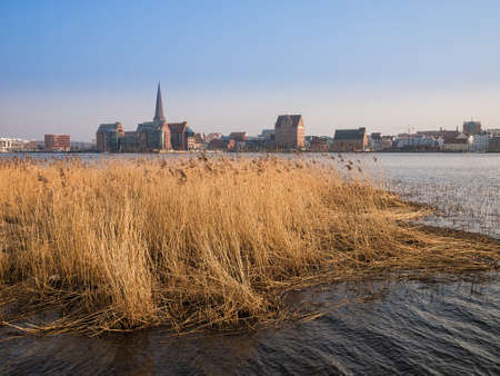 rostock: View to the city Rostock  Germany