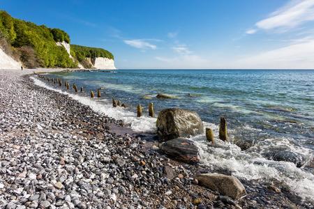 Chalk cliff on the island Ruegen in Germany