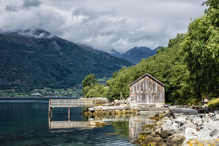 boathouse: Boathouse on Storfjord in Norway