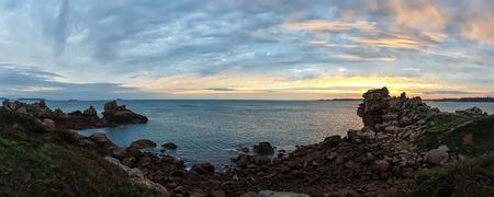 ploumanach: Atlantic ocean coast in Brittany near Ploumanac?h (France). Stock Photo