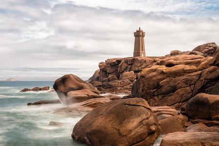 Atlantic ocean coast in Brittany near Ploumanac�h (France). photo