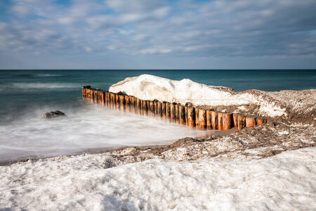 baltic sea: Winter on the Baltic Sea coast.