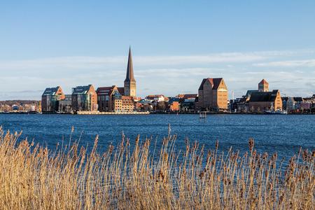 rostock: View to Rostock (Germany). Stock Photo