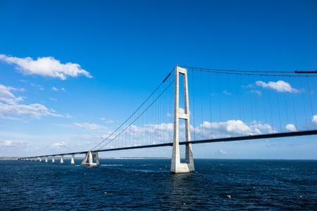 Sont-brug tussen Denemarken en Zweden. Stockfoto