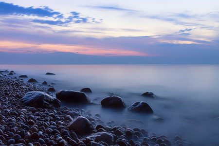 nger: Stones on shore of the Baltic Sea.