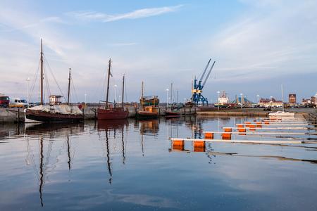rostock: City port in Rostock (Germany).