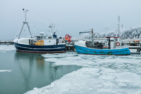 Fishing boats in the port of Timmdorf (Germany). photo