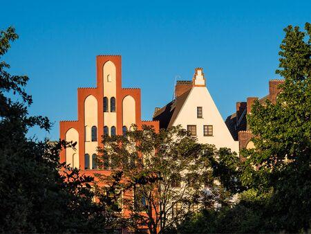 rostock: Historical building in Rostock (Germany).