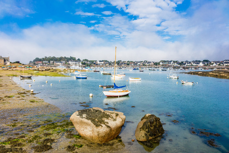 ploumanac'h: Port in Brittany in France Ploumanach. Stock Photo