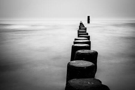 groyne: Groyne on shore of the Baltic Sea.