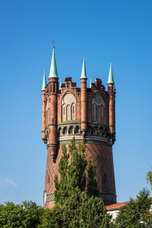 rostock: Historical water tower in Rostock (Germany).