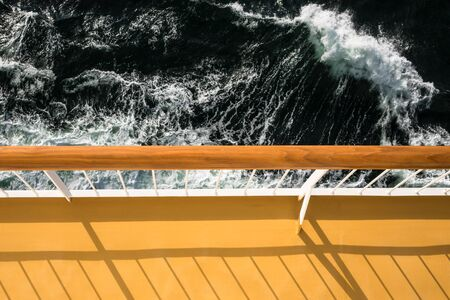 handrail: Handrail on a cruise ship on the Baltic Sea.