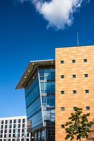 rostock: A modern building in Rostock (Germany).