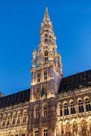 historical buildings: Historical buildings in Brussels (Belgium) with blue sky.
