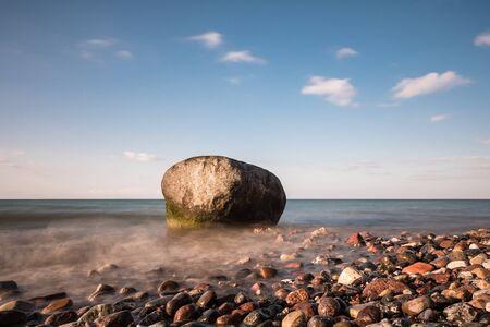 baltic sea: Rocks on shore of the Baltic Sea.