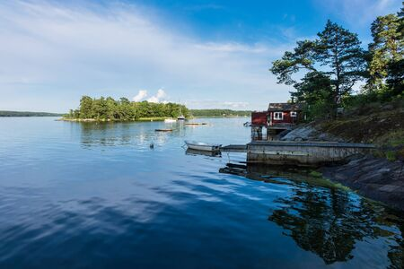 archipelago: Archipelago on the Baltic Sea coast in Sweden. Stock Photo