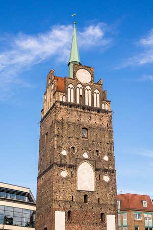 rostock: The gate Kroepeliner Tor in Rostock (Germany).