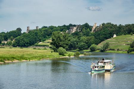 passenger ship: Passenger ship on the river Elbe in Dresden (Germany).