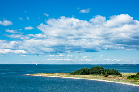 headland: Headland on the Baltic Sea coast in Gedser (Denmark). Stock Photo