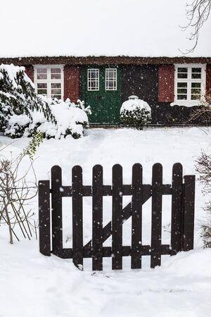 A building in Ahrenshoop (Germany) in winter time.