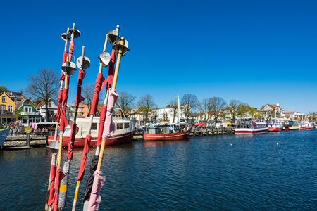 Fishing boats in the port of Warnemuende, Germany.