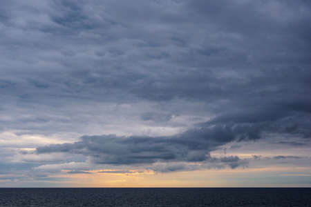Clouds on shore of the Baltic Sea.