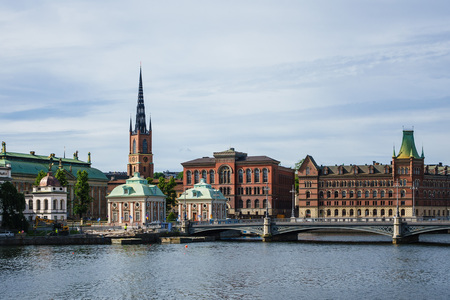 View to the capital of Sweden, Stockholm. Stock Photo