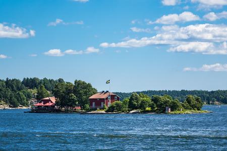 Archipel aan de kust van de Baltische Zee in Zweden.