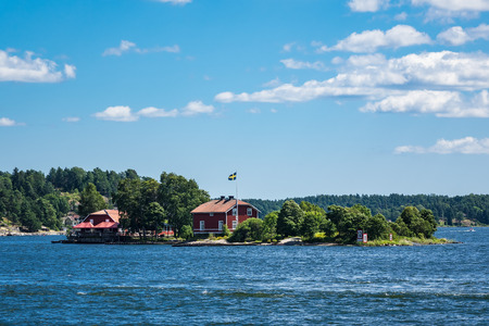 Archipelago on the Baltic Sea coast in Sweden. Stock Photo