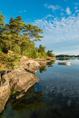 Archipelago on the Baltic Sea coast in Sweden. Standard-Bild