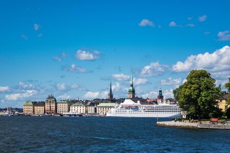 View to the capital of Sweden, Stockholm. Standard-Bild