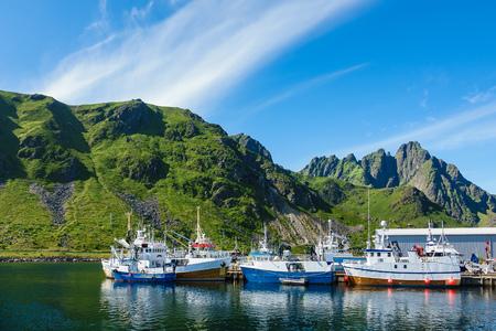 Ballstad on the Lofoten islands in Norway.