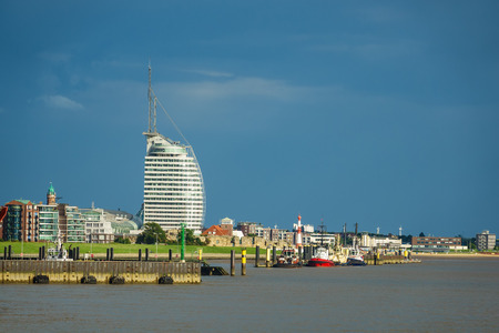 Uitzicht op de stad Bremerhaven in Duitsland.