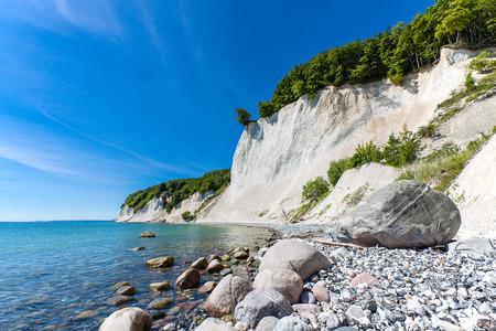 島リューゲン島、ドイツのバルト海の海岸。