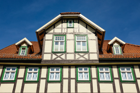 Building in the city Wernigerode, Germany.