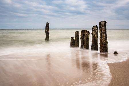 groynes: Groynes on shore of the Baltic Sea.