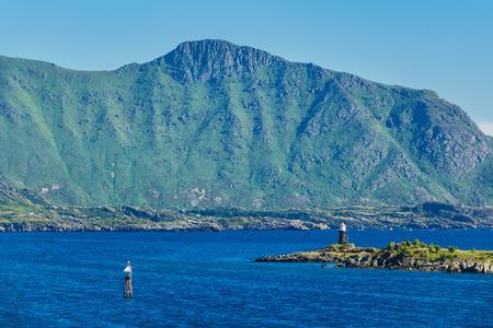 Coast on the Lofoten islands in Norway. Stock Photo