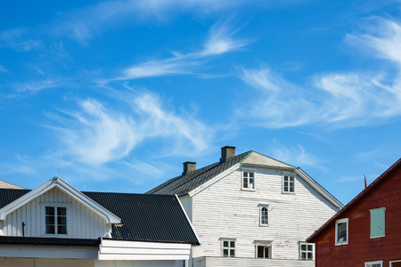 Buildings on the Lofoten islands in Norway.