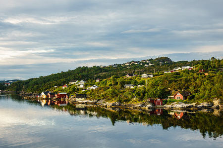 View to the city Bergen in Norway. Stock Photo