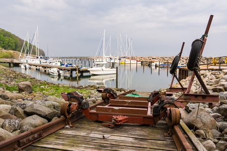 Port in Lohme on the island Ruegen, Germany.
