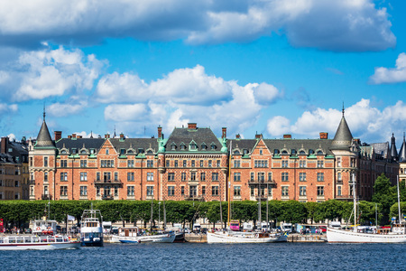 View to the capital of Sweden, Stockholm. Editorial