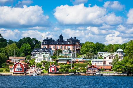 Archipelago on the Baltic Sea coast in Sweden. Stock Photo