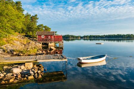 Archipelago on the Baltic Sea coast in Sweden. Editorial